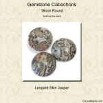 Cabochon, 18mm Round:Leopard Skin [ea]