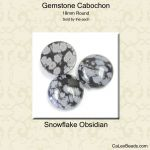 Cabochon, 18mm Round:Snowflake Obsidian [ea]