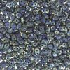 SuperDuo Beads, 2.5x5mm Blue Opaque Picasso [10g]