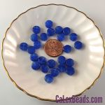 Czech Glass 8x3mm Dime Beads:Sapphire/Crystal [25]