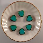 Heart Table Cut Beads 15mm:Turquoise Picasso [6]