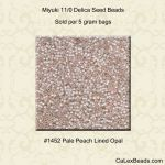 Delica 11/0:1452 Pale Peach, Lined Opal [5g]