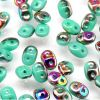 SuperDuo Beads, 2.5x5mm Turquoise Green Vitrial [10g]