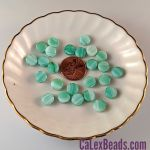 Czech Glass 8x3mm Dime Beads:Seafoam [25]