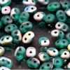 SuperDuo Beads, 2.5x5mm Emerald Vitrial Matte [10g]