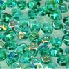 SuperDuo Beads, 2.5x5mm Emerald AB [10g]