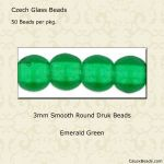 Druk Bead 3mm Emerald [100]