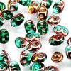 SuperDuo Beads, 2.5x5mm Emerald Apollo Gold [10g]
