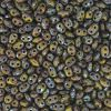 SuperDuo Beads, 2.5x5mm Olivine Picasso [10g]