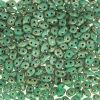 SuperDuo Beads, 2.5x5mm Turquoise Green Picasso [10g]