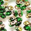 SuperDuo Beads, 2.5x5mm Chrysolite Apollo Gold [10g]