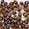 SuperDuo Beads 2.5x5mm 2-Hole:Amber, Opaque Picasso [10g]