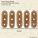 Beam Beads 3x10mm 3-Hole:Copper [5g]