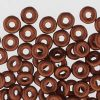 Czech Glass 3.8x1mm O Beads:Copper Matte Metallic [8g]