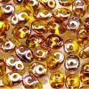 SuperDuo Beads 2.5x5mm 2-Hole:Amber, Apollo Gold [10g]