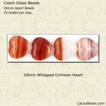 Heart Beads 10mm:Whipped Crimson [25]