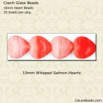 Heart Beads 10mm:Whipped Salmon [25]