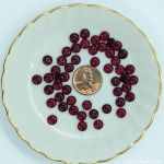 Czech Glass 6mm Rondell Beads:Garnet [50]
