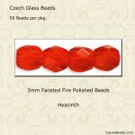 Fire Polished Beads 3mm Hyacinth [50]