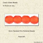 Fire Polished Beads, 4mm:Hyacinth [50]