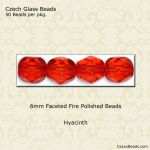 Fire Polished 6mm Faceted Round Beads:Hyacinth [50]