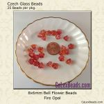 Bell Flower Bead 8x6mm Fire Opal [25]
