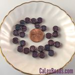 Czech Glass 8x3mm Dime Beads:Luster Amethyst [25]