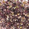 SuperDuo Beads, 2.5x5mm Amethyst Apollo Gold [10g]