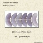 Angel Wing Beads, 10mm:Light Amethyst Opal [50]