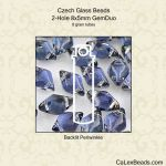 GemDuo Beads 8x5mm 2-Hole:Back Lit Periwinkle [8g]