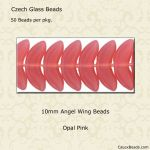 Angel Wing Beads, 10mm:Pink Opal [50]