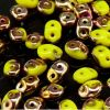 SuperDuo Beads, 2.5x5mm Limon Apollo Gold [10g]