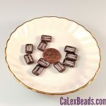 8x12mm Table Cut Rectangle Beads:Crystal Cocoa Picasso [ea]