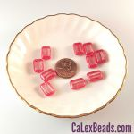 8x12mm Table Cut Rectangle Beads:Crystal Red Picasso [ea]