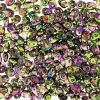 SuperDuo Beads, 2.5x5mm Violet/Green Magic [10g]