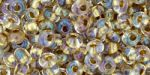 CLOSE OUT:3mm Toho Magatama Beads, Gold Lined Crystal [8g]