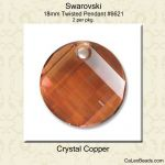 Swarovski #6621 Twisted Pendant:Crystal Copper [2]