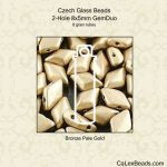 GemDuo Beads 8x5mm 2-Hole:Bronze Pale Gold [8g]