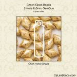 GemDuo Beads 8x5mm 2-Hole:Chalk Honey Drizzle [8g]