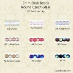 Druk Bead Value Package 3mm AB