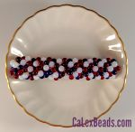 "Barrettes:3"" Red, White & Blue Teardrop [ea]"
