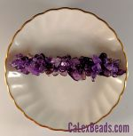 "Barrettes:Rock Candy, Amethyst (Large Stone) 3"" [ea]"