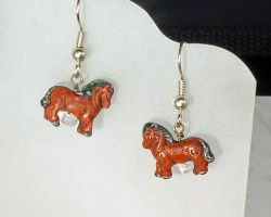 Earrings:Horses