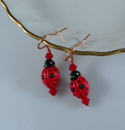 Earrings:Ladybugs