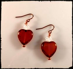Earrings:Pink and Lemon Hearts [ea]