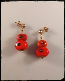 Earrings:Oranbe Bubble Stacks [ea]