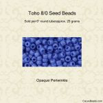 Toho 8/0:0048L Periwinkle, Opaque [25g]