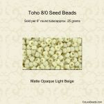 Toho 8/0:0051F Light Beige, Matte Opaque [25g]