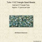 Toho Triangle 11/0:Black Diamond, AB [17g]